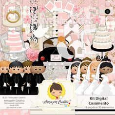 kit digital casamento II
