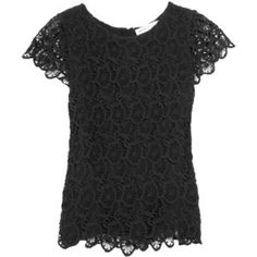 See by Chloé Tiered cotton lace blouse