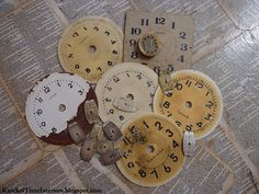 You may remember that last month I ordered these incredible old clock faces from an Etsy seller in Latvia. I love having some with foreign names on them. It occurred to me that some of you may want to use these faces in projects of your own, so here are some of the faces that came from small clocks. They look wonderful grouping together in a vintage vignette. Just right-click, save and print when you are ready to use them.  {Read More}