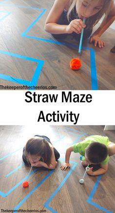 Straw Maze Activity - #Activity #Maze #Straw - #activities #Activity #maze #Straw