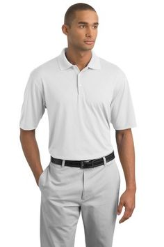 Nike Golf 349899 Dri-FIT Texture Polo White on sale now at sweatshirtstation.com #businesscasual #promotionalclothing #asi