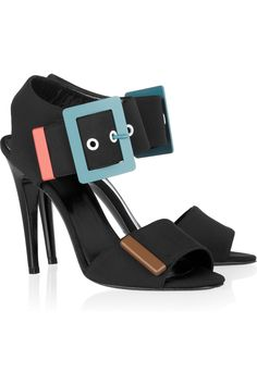 PIERRE HARDY  Metal-trimmed neoprene and leather sandals