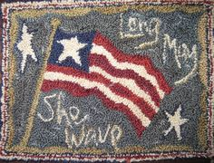 Long May She Wave,Patriotic table mat.,Polly Minick.