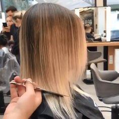 Caudillo contemporáneo kurzhaarschnitte asimétrica k. Bob Hairstyles For Fine Hair, Medium Bob Hairstyles, Cool Hairstyles, Blonde Short Hairstyles, Balyage Short Hair, Blonde Highlights Short Hair, Blunt Bob Haircuts, New Haircuts, Short Thin Hair