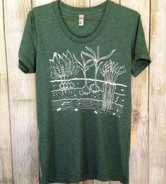 Women's Veggie Garden T-Shirt   This screenprinted tee is just the thing for those lucky enoug...   T-Shirts