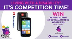 We've teamed up with www.connevans.co.uk to offer one reader the chance to win an Amplicomms M9000 Smartphone worth £129.