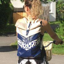 Nähanleitung Rucksack VARO von Hansedelli Rucksack nähen Schnittmuster Turnbeutel Shoppingbag gymbag backpack sewing Rolltop Rucksack
