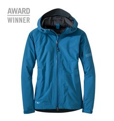 Women's Aspire Jacket™ | Outdoor Research: BEST SELLING VERSATILITY, DURABLE AND WATERPROOF This lightweight shell jacket is one of our best sellers and offers all-season features providing solid protection when a downpour sets in for the long haul. Waterproof and extremely breathable GORE-TEX® fabric shrugs off the wear-and- tear of the trail, while TorsoFlo™ side zippers on the jacket allow poncho-style ventilation when body heat needs to escape. Feature rich, this jacket works a...