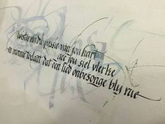 Calligraphy done by Cecile Walters in the Fraktur style and flatbrushlettering