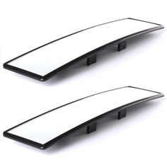 300mm x 70mm Car Rear View Panoramic Wide Angle Mirror Clip On Interior CY037-CN+