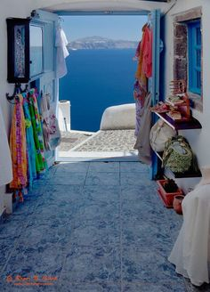 Shops with a View, Santorini, Greece.