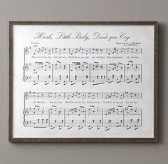 Antique Sheet Music - Hush Little Baby......CHANGE SONG