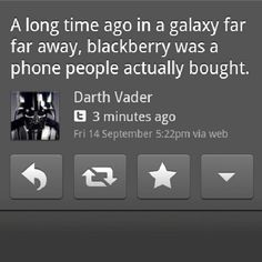 Darth Vader is correct