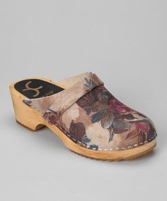 Look at this Cape Clogs Rose   Beige Floral Rosette Clog - Women on  zulily 633f331c84