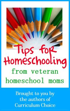 Boy, are you in for a treat today! The amazing homeschool mommas (who also happen to write fabulous reviews for you) are sharing some of their best, well-seasoned homeschooling tips for you today. You will be blessed. From The Curriculum Choice Archives Be sure to browse the tabs above to find