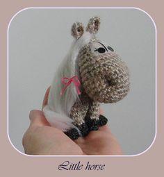 Little HORSE Symbol 2014 OOAK Stuffed Animals Crochet Handmade Soft toy decor Amigurumi