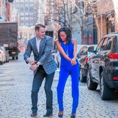Gorgeous interracial couple dancing on the streets of Soho #love #wmbw #bwwm…