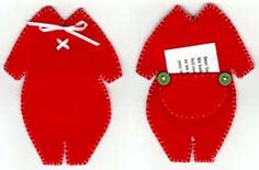 Santa's Underwear ~  Pattern and Instructions ~ I made these one year and tucked gift cards in the rear flap as shown.  Everyone loved them!  I've also made tiny clothes hangers to hang them as ornaments for the children on my list.