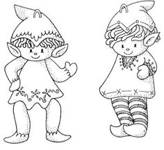 Printable Christmas Ornament Templates | Wool felt would make bright little elves for your Christmas tree and ...