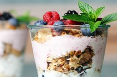 Skinny Berry Parfait is proof that desserts don't need added sweeteners to taste delicious. Our healthy parfait recipes are a great option for those with a sweet tooth.