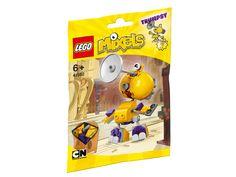 LEGO Mixels 41562 Trumpsy Dieser Musiker aus MixOrleans hat eine Posaune als Kopf und richtig dicke Backen, um eine laute Melodie herausschmettern zu können. Wenn Trumpsy spielt, bekommt das jeder in Mixopolis mit! Achte bloß gut darauf, dass niemand die Musikkollektion dieses Mixels stiehlt.