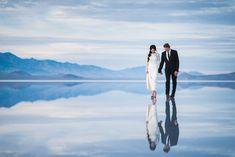 Photographer Tony Gambino captured these beautifully surreal wedding photos at the Bonneville Salt Flats in Utah.