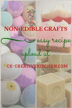 You can share your creative non-edible craft (bath bomb, soap, playdough etc.) recipes easily for free...