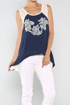 salediem.com boutique fashions for less.  Shipping FREE. Embroidery Lace Top