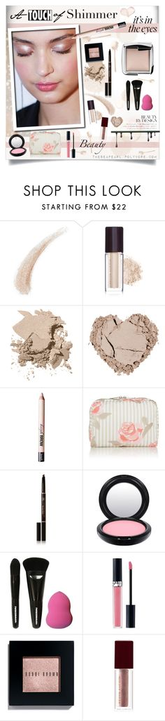 """A Touch of Shimmer!"" by theseapearl ❤ liked on Polyvore featuring beauty, Kevyn Aucoin, Bobbi Brown Cosmetics, Benefit, LeSportsac, Anastasia Beverly Hills, MAC Cosmetics, Tweezerman, Christian Dior and Hourglass Cosmetics"