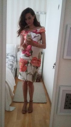 Big flowers/off shoulder/occasions Hope and Ivy dress