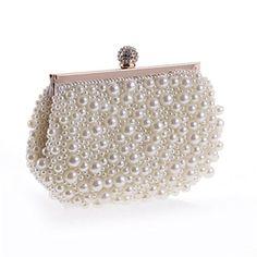 Luxus Abendtasche Handtasche Perlen Kristall Tasche Schultertasche Brauttasche Spezieller Sommer Sale Hochzeit & Besondere Anlässe