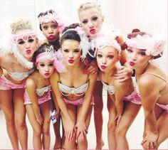 Chloe Lukasiak, Nia Frazier, Mackenzie Ziegler, Brooke Hyland, Paige Hyland, Maddie Ziegler and Kendall Vertes