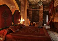 Moroccan spaces are not heavily lit but more shady and naturally  lighten. Riad Noir d'Ivoire – Morocco.