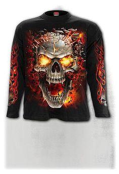 Spiral Mens Sleeveless T-Shirt Charcoal Solemn Skull