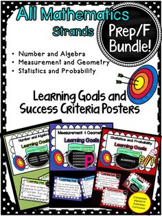 Grade 5 All Mathematic Strands Learning Goals & Success Cr Math Worksheets, Math Activities, Teaching Resources, Teaching Ideas, Visible Learning, Reading Goals, Success Criteria, Text Types, Australian Curriculum