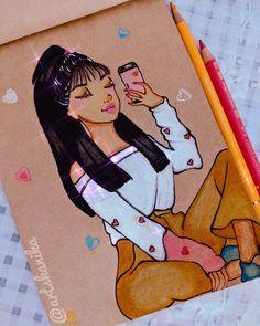 Selfie art sketch drawing colors Sketch Drawing, Art Sketches, Disney Inspired, Fashion Sketches, My Arts, Selfie, Manga, Portrait, Drawings