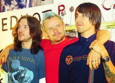 John Frusciante, Flea, and Anthony Kiedis!