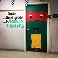 Ninja Turtles Party Decoration Ideas Best Of Teenage Mutant Ninja Turtle Classroom Door Ninja Turtle Party, Ninja Turtle Birthday, Ninja Turtles, Turtle Classroom, Classroom Themes, Ninja Turtle Decorations, Superhero Door, School Door Decorations, Party