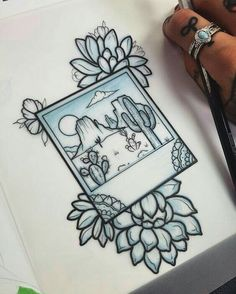 polaroid tattoo design
