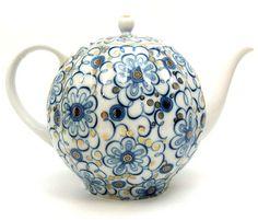 Winding Twig Large Teapot from Lomonosov Porcelain in St. Tea Cup Saucer, Tea Cups, Traditional Teapots, China Teapot, Teapots Unique, Tea Infuser, Tea Kettles, Vases, Teapots And Cups