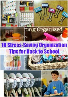 It's back to school time, which means it's also time to get organized! Find 10 Stress-Saving Organization Tips for Back to School. Life Hacks For School, Back To School Hacks, Going Back To School, School Tips, School Ideas, School Stuff, School Resources, Back To School Organization, Classroom Organization