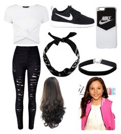 """""""Breanna Yde"""" by princessevelyn31 on Polyvore featuring New Look, NIKE and Miss Selfridge"""