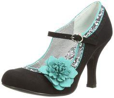 0b612989 Ruby Shoo Poppy Black Green White Womens Hi Heels Court Shoes #RubyShoo  #Heels size