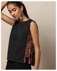 Diy Clothing, Sewing Clothes, Kurta Designs, Blouse Designs, Umgestaltete Shirts, Diy Fashion, Fashion Outfits, Indian Designer Wear, Fancy Tops