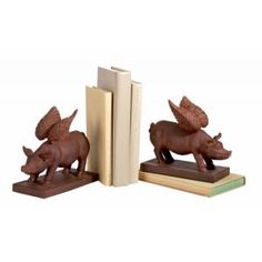 Flying Pigs as bookends....  :)