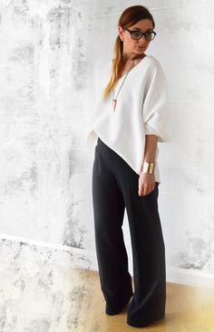 die EDELFABRIK | Mein Ü40 Blog für Mode und Beauty: Clean Chic - Wie kombiniere ich ein weite Hose - O...