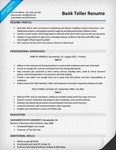 Resume Examples Bank Teller