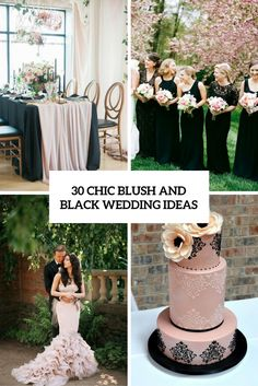 Blush Pink Black Wedding Ideas Decorations And Inspiration