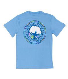 Southern Shirt Company Tropical Logo Short Sleeve Shirt in Maui Southern Shirt Company, Cotton Crafts, Tee Shirts, Tees, Preppy Outfits, Cute Fashion, Teen Fashion, Ladies Dress Design, Southern Marsh