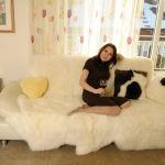 Couchüberwurf aus australischem Lammfell